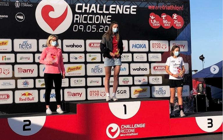 Sina und Silvan an 70.3 Challenge in Riccione IT
