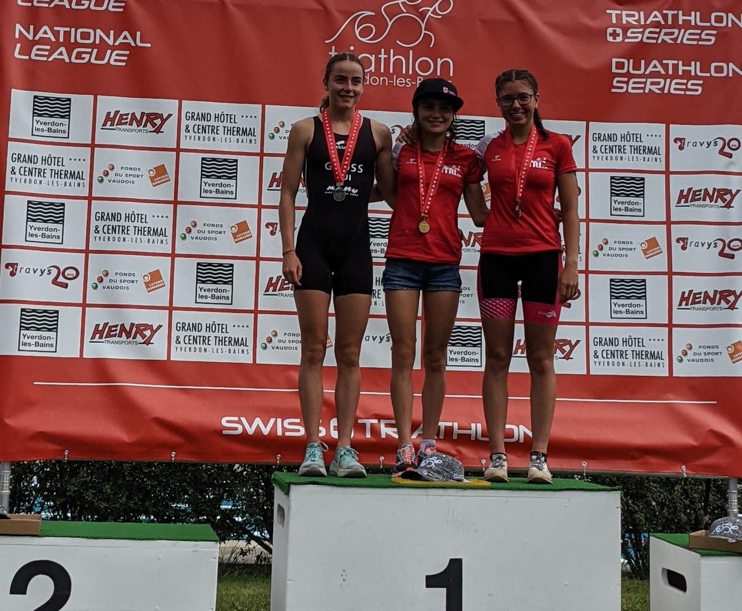 Challenge WM und Kurzdistanz SM Podestplätze für Sina, Nathalie und Livia